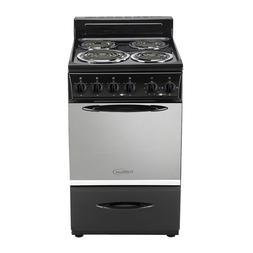 "Premium -20""- 4 Burners  Portable Electric Range. Stove. Gla"