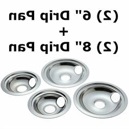 4 Pack Chrome Replacement for GE/Hotpoint Electric Range Ref