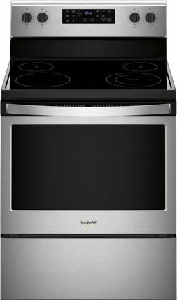 Whirlpool - 5.3 Cu. Ft. Freestanding Electric Range - Stainl
