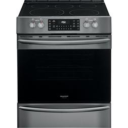 Frigidaire Black Stainless Electric Front Control Freestandi