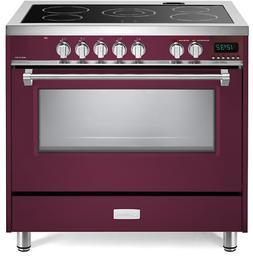 "Verona Designer VDFSEE365BU 36"" Electric Range Oven Convecti"