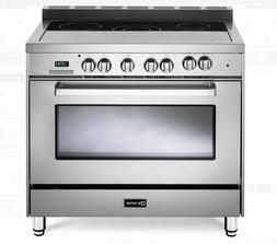 "Verona Designer VDFSEE365SS 36"" Single Oven Electric Range S"