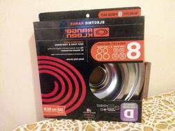 Electric Range Kleen Chrome Plated Drip Pans Trim Rings 8pc