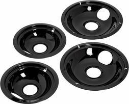 "Electric Stove Drip Pans 4-Set Ge Hotpoint Kenmore Pan 2X6"""