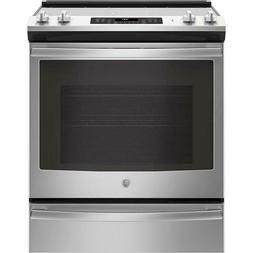 GE  JS760SLSS 30 Inch Slide-In Electric Range with True Conv