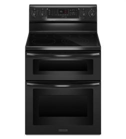 "KitchenAid KERS505XBL 30"" Black Freestanding Electric Range"