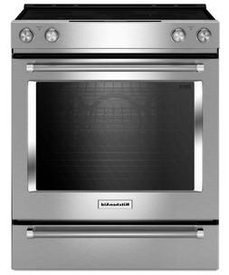 "KitchenAid KSEG700ESS 30"" Slide-In Electric Range Self-Clean"