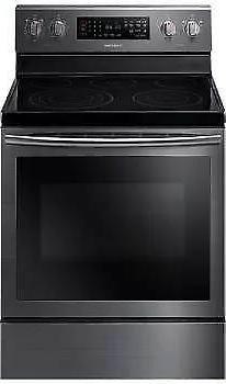 "Samsung 30"" Freestanding Electric Range with 5.9 cu. ft. Tru"