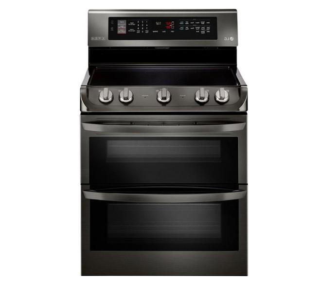 lde4415bd 30 black stainless double oven electric