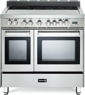 "Verona VEFSEE365DSS 36"" Electric Double Oven Range Convectio"