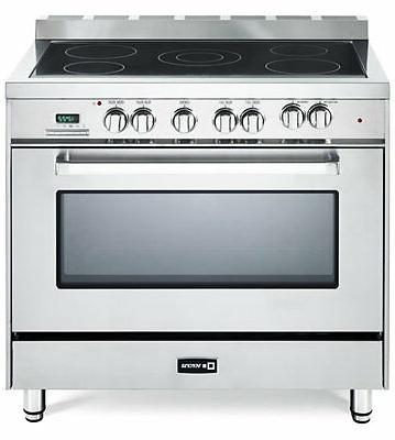 """Verona VEFSEE365SS 36"""" Electric Range Oven Stainless Steel,"""
