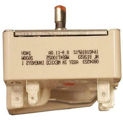 wb24t10025 electric ran infinite switch 8 inch