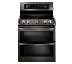 "LG LDE4415BD 30"" Black Stainless Double Oven Electric Range"