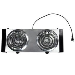 Avantco Lightweight  Portable Double Burner Countertop Range