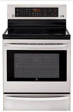 "LG LRE3085ST 30"" Stainless Freestanding Electric Range NIB M"