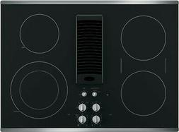 """New! GE Profile PP9830SJSS 30"""" Electric 4 Burner Smoothtop D"""