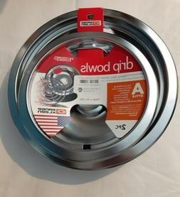 NEW Range Kleen Chrome Plated Stove Range Drip Pans Style A