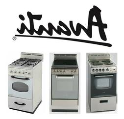 """Avanti Products - 20"""" to 24"""" Ranges, Gas, Electric Coil, and"""
