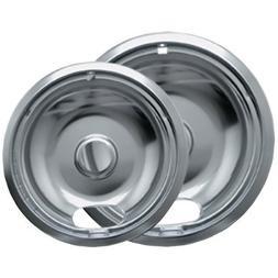 Range Kleen - Chrome Drip Pans, 2 pack