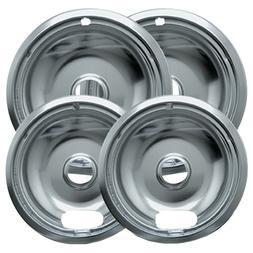 Range Kleen - Universal Chrome Drip Pans, Style A, Multi pac