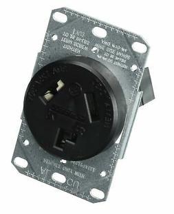 Bryant Electric RR330F Outlet, Range Receptacle, Black 1-