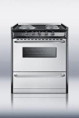 Summit TEM210BRWY Kitchen Cooking Range, Stainless Steel
