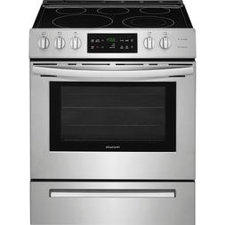 """Frigidaire Stainless Steel 30"""" Electric Range Front Controls"""
