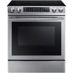 """SAMSUNG Stainless Steel Convection 30"""" Electric Slide in Ran"""