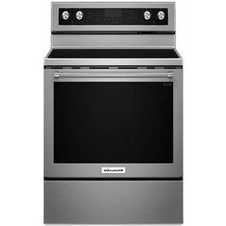 "KitchenAid 30"" Stainless Steel Freestanding Electric Range -"