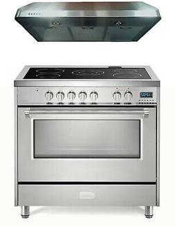 """Verona VDFSEE365SS 36"""" Electric Range Convection Oven Stainl"""