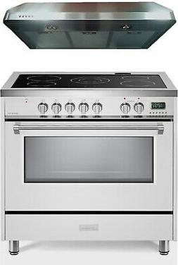 vdfsee365w 36 electric range convection oven white