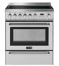 "Verona VEFSEE304PSS 30"" Electric Range Oven Self Cleaning St"