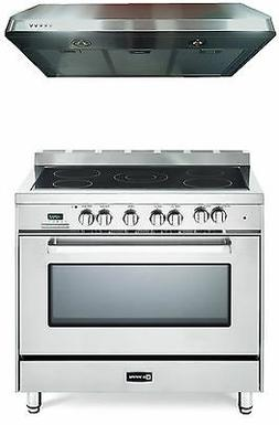 """Verona VEFSEE365SS 36"""" Electric Range Oven Stainless Steel 2"""