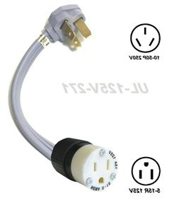 Voltage Adapter 10-50P Plug / 5-15R Outlet Electric Stove Ra
