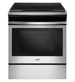 "Whirlpool WEE510S0FS 30"" Stainless Steel Slide-In Range Smoo"